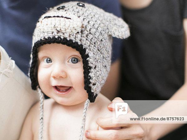 Portrait  Junge - Person  Hut  Kleidung  stricken  Baby