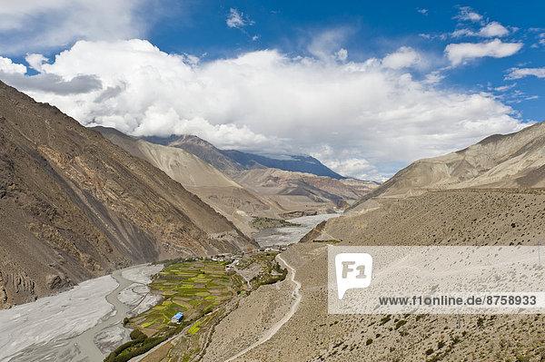 acreages agricultural agriculture canyon daytime farmland fields Himalaya Kali Gandaki valley landscape Lower Mustang mountain landscape mountains mountains nature Nepal nobody outdoors travel photography valley