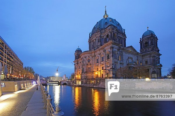 Berlin Cathedral and the Spree River  Berlin  Germany.