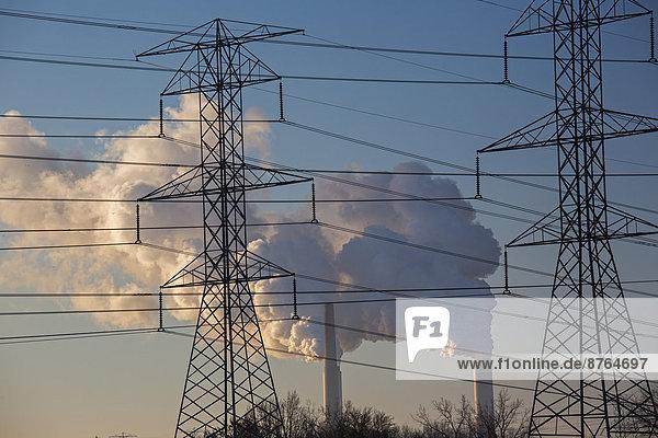 Kraftwerk Energie energiegeladen Vereinigte Staaten von Amerika USA kohlebefeuert Michigan