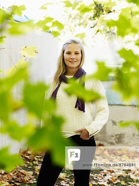 Young woman smiling  Stockholm  Sweden