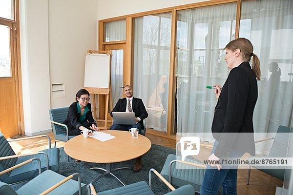 zeigen  Stockholm  Hauptstadt  Frau  Geschäftsbesprechung  Zimmer  Konferenz  Schweden