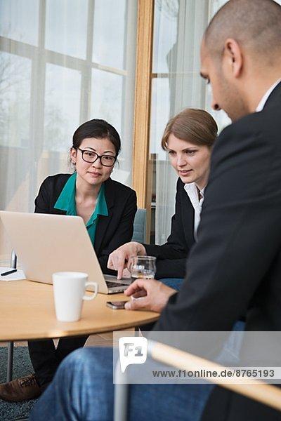 Business meeting in conference room  Stockholm  Sweden