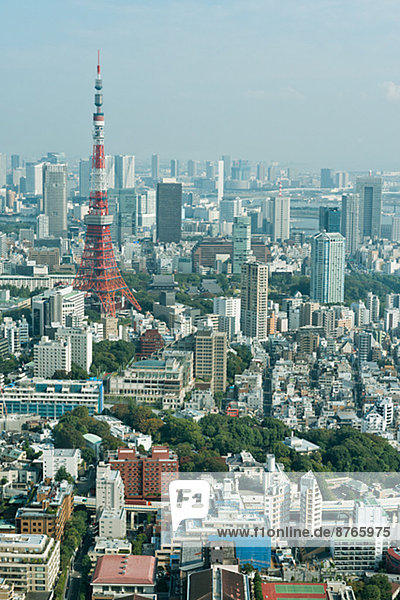 Stadtansicht Stadtansichten Tokyo Hauptstadt Japan