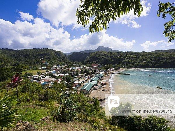 Karibik  Saint Lucia  Blick auf Anse-la-Raye