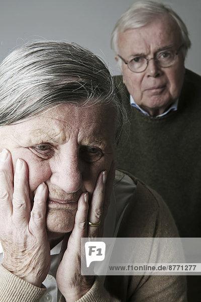 Porträt eines älteren Paares  Nahaufnahme