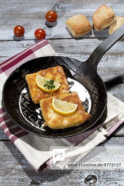 Baked Bio-Tofu in a pan