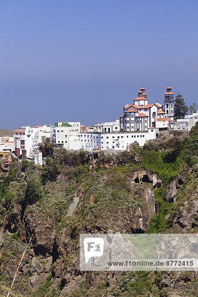 Stadt Kirche Ansicht Kanaren Kanarische Inseln Gran Canaria Spanien