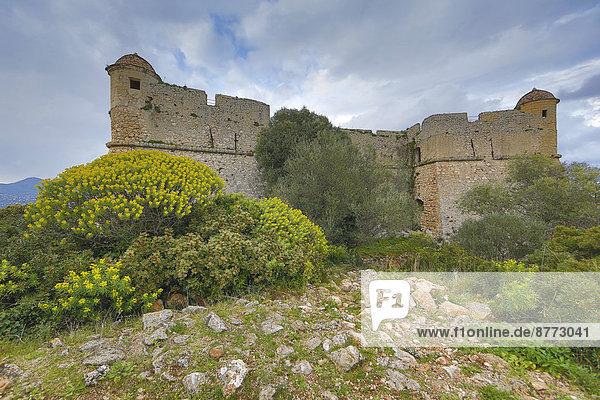 Mittelalterliches Fort du Mont Alban auf dem gleichnamigen Hügel  bei Nizza  Département Alpes Maritimes  Region Provence Alpes Côte d'Azur  Frankreich