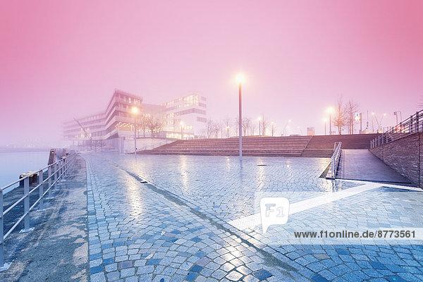 Germany  Hamburg  Hafencity  University of Hamburg  early morning fog