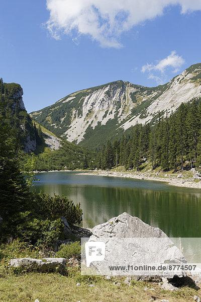 Deutschland  Bayern  Mangfallgebirge  Soinsee und Hochmiesing