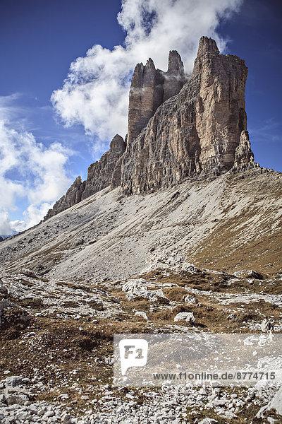 Italy  Dolomite Alps  clouds at Tre Cime di Lavaredo