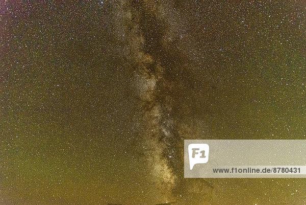 Vereinigte Staaten von Amerika  USA  Nationalpark  sternförmig  Amerika  Nacht  Himmel  Milchstraße  North Dakota
