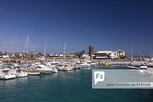 Hafen  Europa  Boot  Insel  Kanaren  Kanarische Inseln  Fuerteventura  Spanien