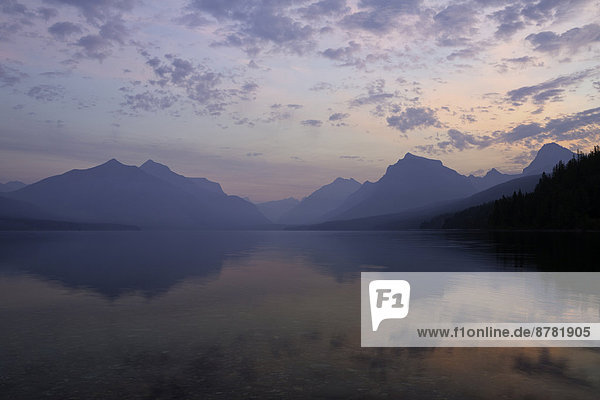 Lake McDonald in Glacier National Park  National Park at sunrise. Montana  USA  fall.