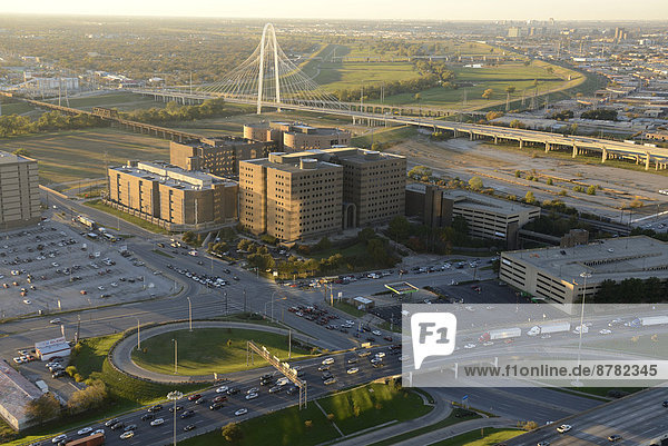 North America  Texas  USA  United States  America  Dallas  Calatrava  Trinity  River  Bridge  freeway  street  urban  sprawl  interstate  traffic