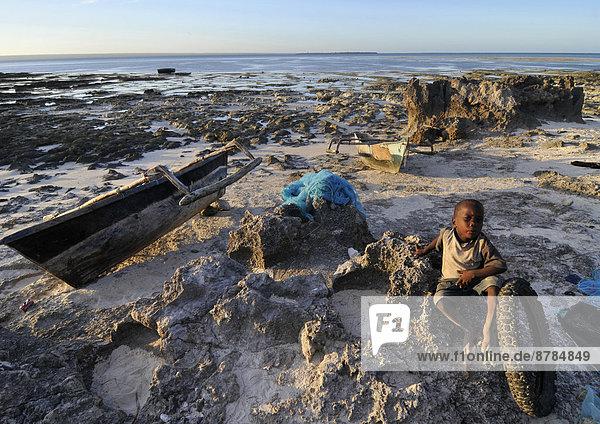 niedrig  Gezeiten  Afrika  Mosambik