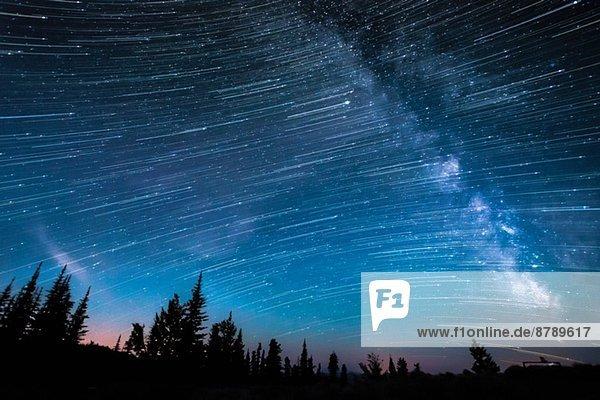 Milchstraße  Langzeitbelichtung  Osoyoos  British Columbia  Kanada