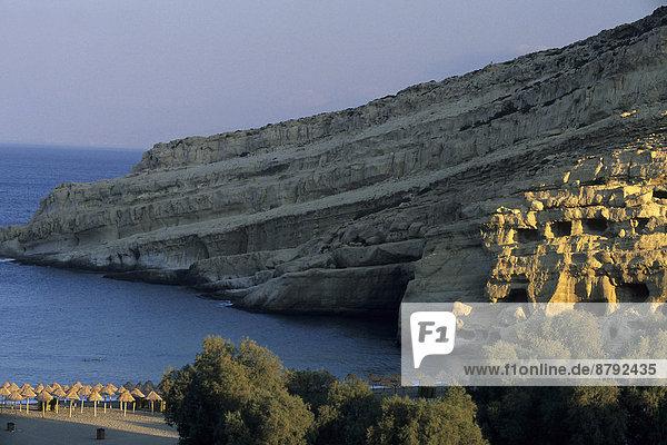 Europa  Strand  Küste  Südeuropa  Meer  Insel  Höhle  Kreta  Griechenland
