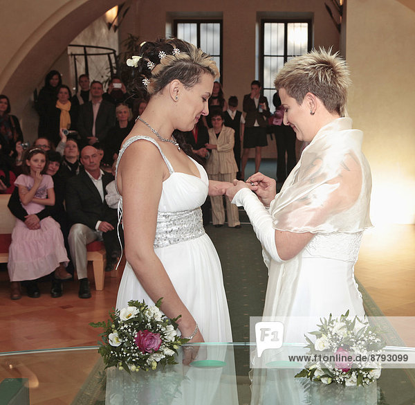 Lesbian Wedding - Two Women Getting Married