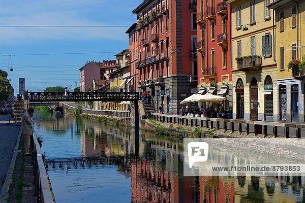 Italien  Lombardei  Mailand  Navigli  Ripa di Porta Ticinese