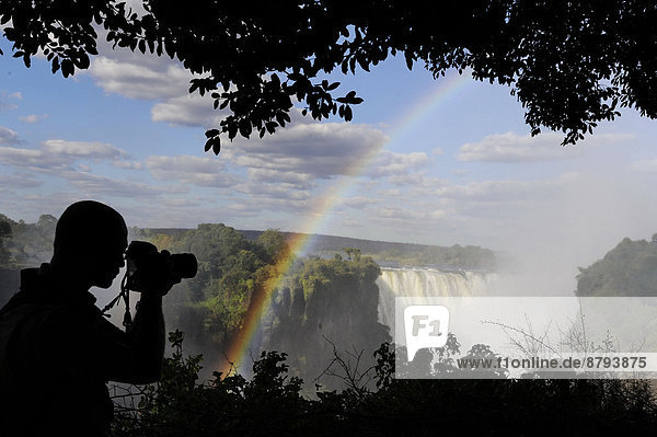 Africa  Zimabwe  Vicotria Falls  photographer in action