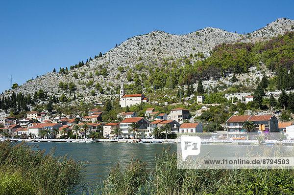 Neretva River at Komin,  Dubrovnik-Neretva County,  Croatia