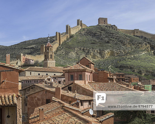 Anschnitt Stadtmauer Geschichte Aragonien Spanien