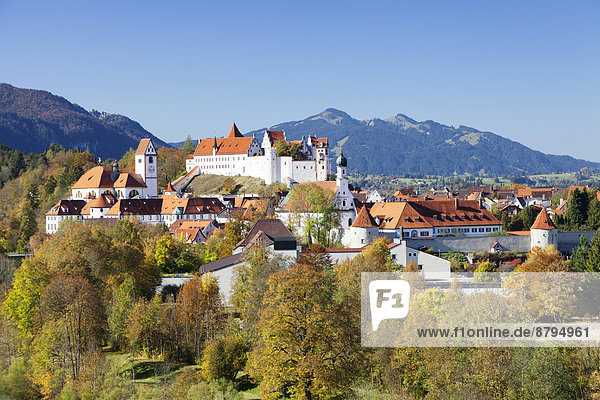 Ortsansicht Füssen  Ostallgäu  Allgäu  Oberbayern  Bayern  Deutschland