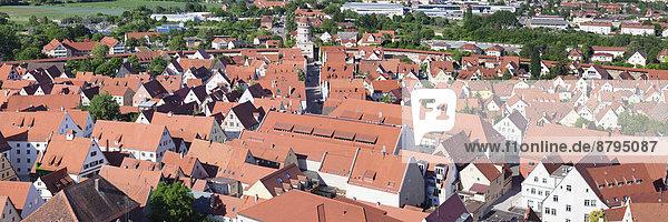 Stadt Geschichte Draufsicht Bayern Deutschland Schwaben