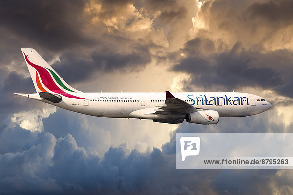 SriLankan Airlines Airbus A330-243 in flight