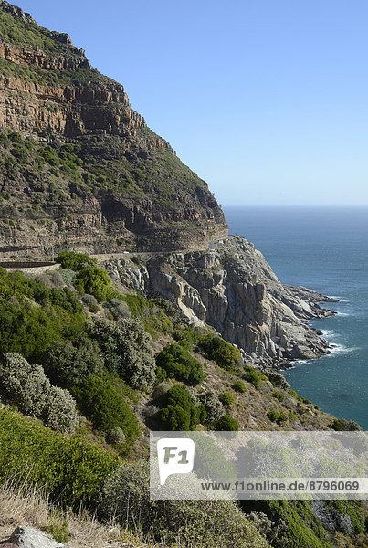Steilküste mit Chapman's Peak Drive  Kap-Halbinsel  Westkap  Südafrika