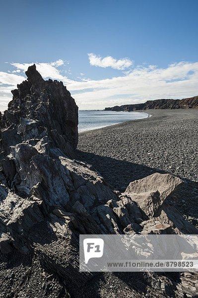Djupalonssandur black stone beach  Snaefellsnes Peninsula  Iceland  Polar Regions