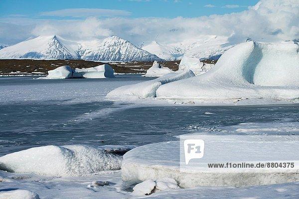 Gletscher  Eisberg  gefroren  Island  Lagune