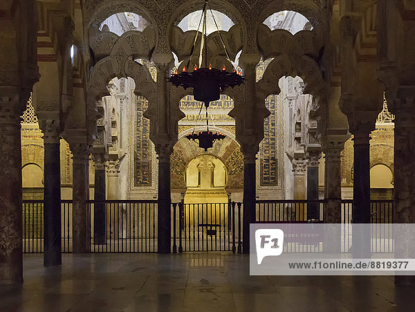 Der Mihrab in der Mezquita  Córdoba  Andalusien  Spanien