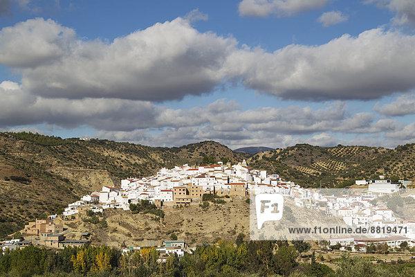 Stadt weiß Andalusien Spanien
