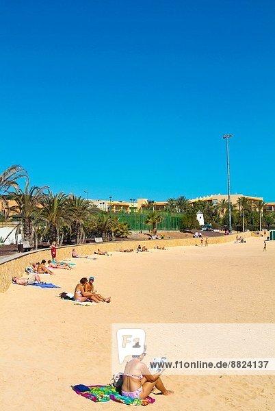 Europa Strand Kanaren Kanarische Inseln Fuerteventura Spanien