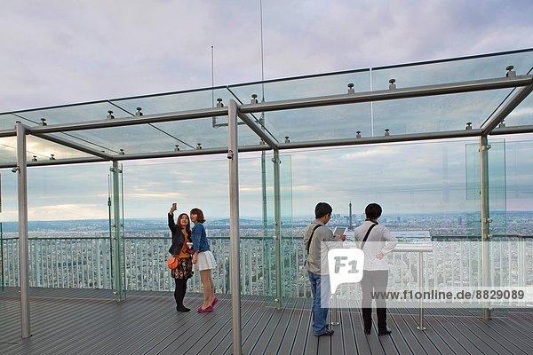 Dach  Paris  Hauptstadt  Frankreich  Tagesausflug  Tourist
