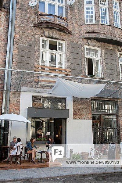 Warschau  Hauptstadt  Gebäude  Straße  Cafe  Judentum  Ghetto