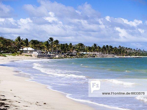 Karibik  Antillen  Kleine Antillen  St. Lucia  Derriere Morne  Strand bei Vieux Fort