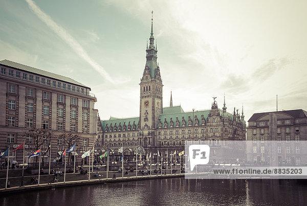 Deutschland  Hamburg  Rathaus und Kleine Alster Deutschland, Hamburg, Rathaus und Kleine Alster