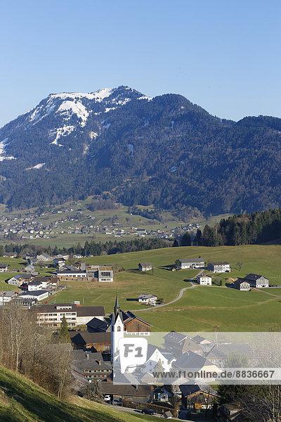 Österreich  Vorarlberg  Bregenzerwald  Schwarzenberg mit Niedere
