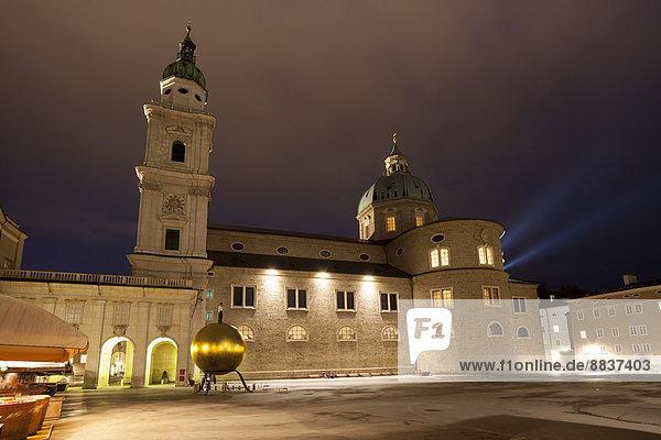 Austria  Salzburg  Kapitel Square and cathedral