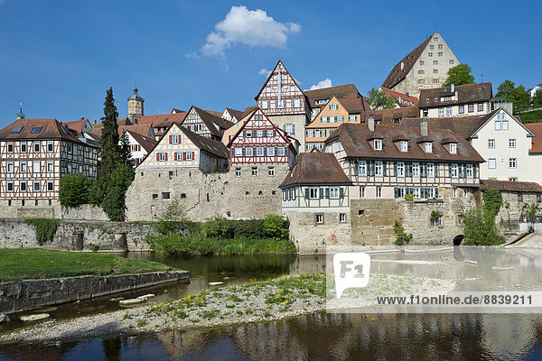 Halle Geschichte Fluss Baden-Württemberg Deutschland