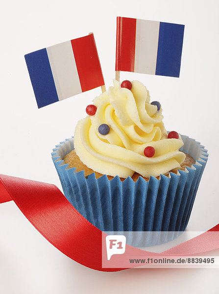 französisch  Fahne  2  1  cupcake  verzieren  Verzierung  Garnierung  garnieren