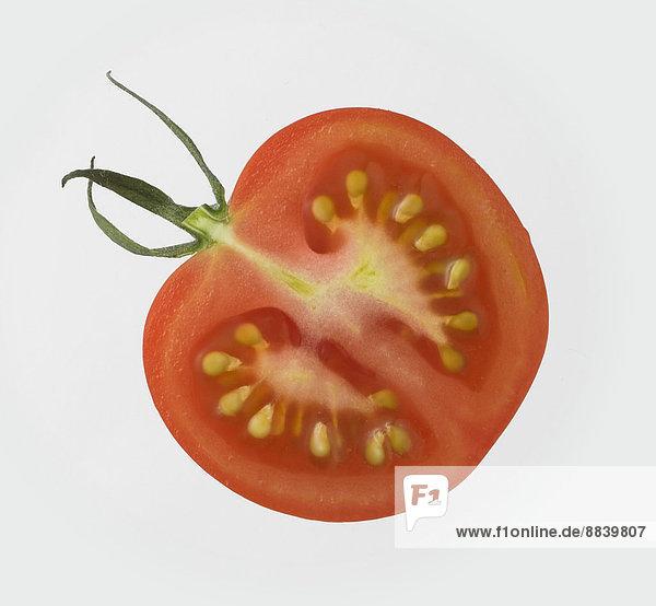 weiß  Hintergrund  Tomate  Hälfte