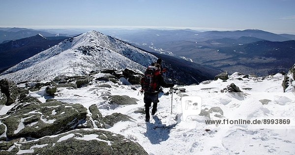 Appalachian Trail _ Tip Top House on the summit of Mount Washington during the winter months. Located in the White Mountains  New Hampshire USA. Notes: Mount Washington is famous for the highest wind gust ever measured on earth at 231 miles per hour on April 12  1934
