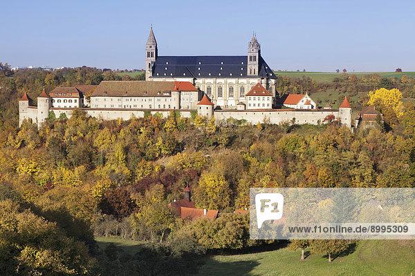 Benediktinerkloster Comburg  auch Großcomburg  Steinbach  Kochertal  Schwäbisch Hall  Hohenlohe  Baden-Württemberg  Deutschland