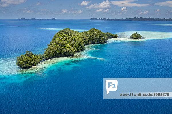 Islands in the island paradise of Palau  Micronesia