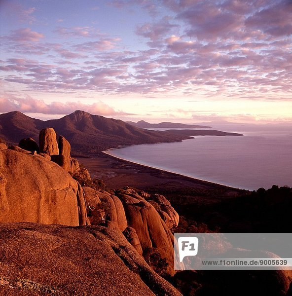 Freycinet Peninsula late afternoon Freycinet National Park  Tasmania  Australia